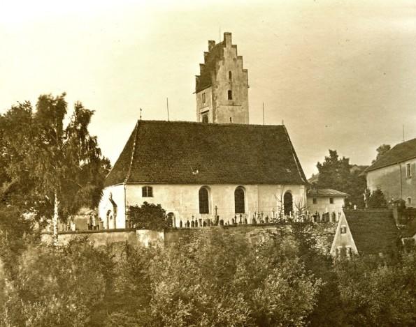 Lentings alte Pfarrkirche St.Nikolaus vor der Erweiterung 1927