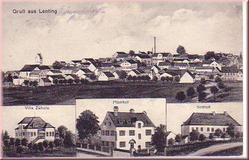 Ansichtskarte von Lenting 1915