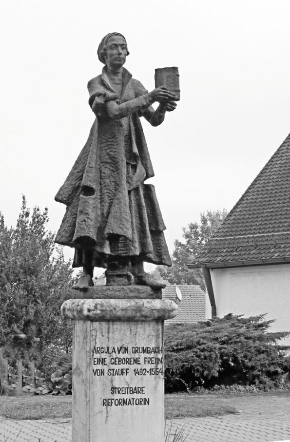 Argula-Standbild in Beratzhausen. Foto: G.Pfeilschifter